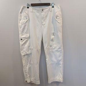 🛍️4/$25 Lauren Ralph Lauren 16W White Cargo pants